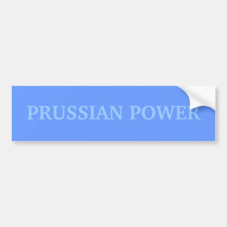 PRUSSIAN POWER BUMPER STICKER