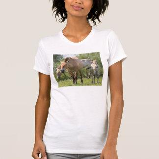 Przewalski's Horse and foal walking T-Shirt