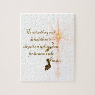Psa 23.3 The Lord is my shepard Jigsaw Puzzle