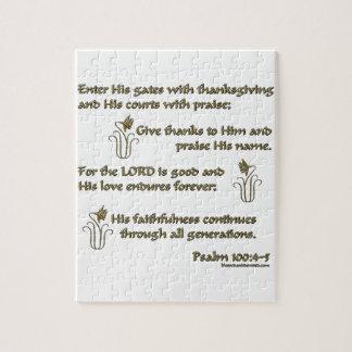 Psalm 100:4-5 jigsaw puzzle