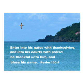 Psalm 100 4 post cards