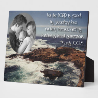 Psalm 100:5/ family photo plaque