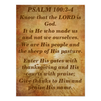 Psalm 100 poster