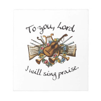 Psalm 101:1 - Vintage Musical Illustration Notepad