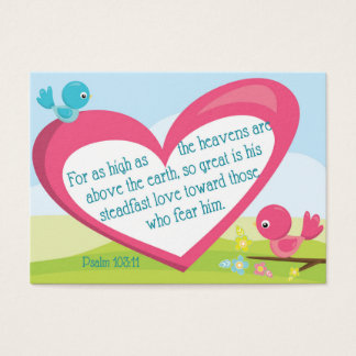 Psalm 103:11 God's Great Love Encouragement Card