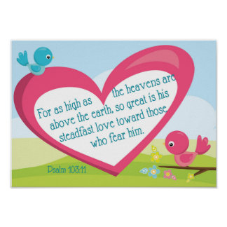 Psalm 103:11 God's Great Love poster