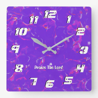Psalm 103 Praise The Lord, My Soul Ml Square Wall Clock