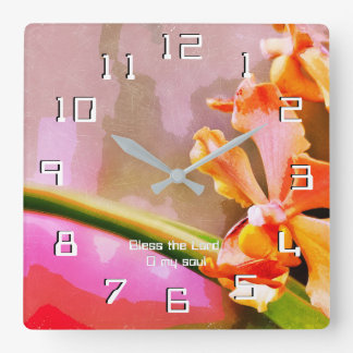 Psalm 103 Praise The Lord, My Soul Square Wall Clock