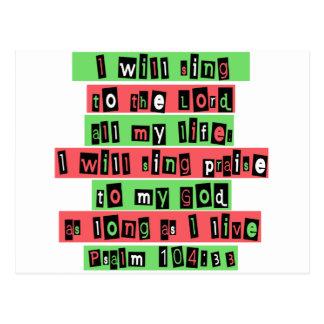 Psalm 104:33 postcard