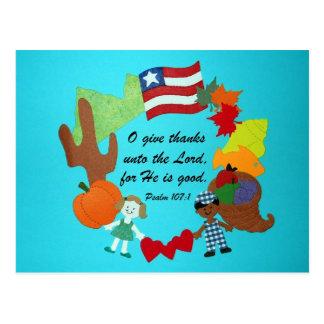 Psalm 107:1 postcard