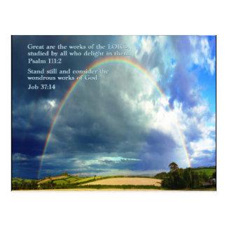 Psalm 111:2  Rainbow Postcard