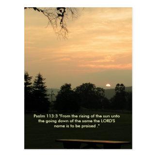 Psalm 113:3 sun setting card