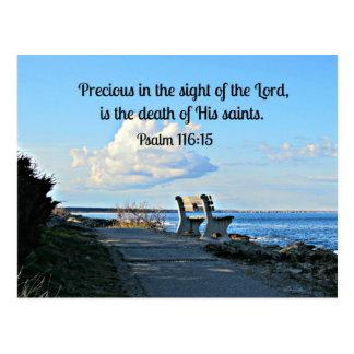 Psalm 116:15 postcard