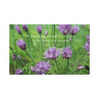 Psalm 118:14 Purple Chives Canvas Print