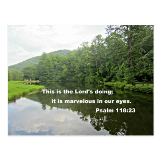 Psalm 118:23 postcard