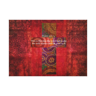 Psalm 118:24 Inspirational Bible Verse Christian Canvas Print