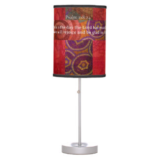 Psalm 118:24 Inspirational Bible Verse Christian Table Lamp