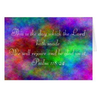 Psalm 118:24 rainbow card
