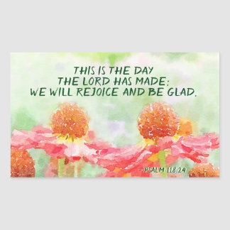 Psalm 118:24 This is the Day the Lord has Made Sticker