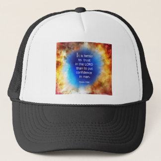 Psalm 118:8 trucker hat