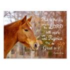 Psalm 118 Bible Verse Chestnut Horse Postcards