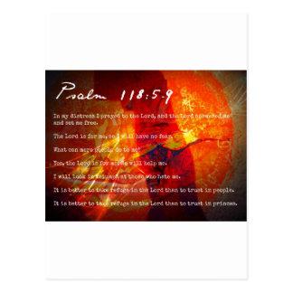 Psalm 118 postcard