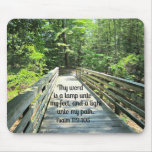 Psalm 119:105 Thy word is a lamp... Mousepad