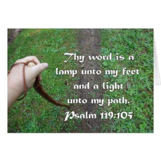 Psalm 119:105 Walking Stick Path Card