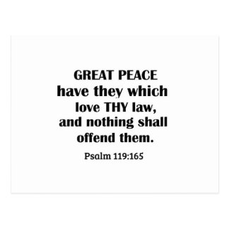 Psalm 119:165 Great peace have they which love thy Postcard