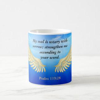 Psalm 119:28 coffee mug