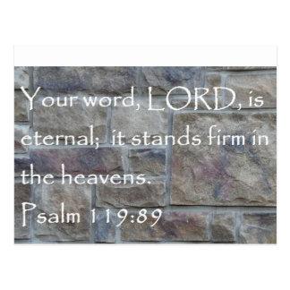 Psalm 119:89 Scripture Verse Post Card
