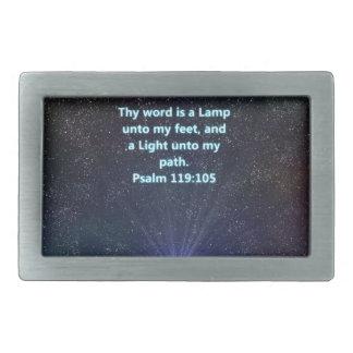 Psalm 119 bible verse belt buckle