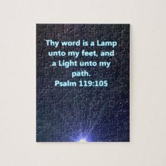 Psalm 119 bible verse jigsaw puzzle