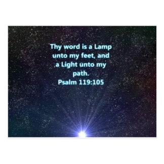 Psalm 119 bible verse postcard