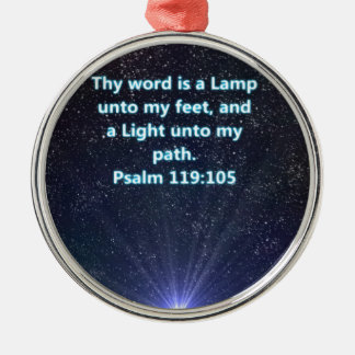 Psalm 119 bible verse Silver-Colored round ornament