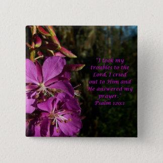 Psalm 120:1 Encouraging Scripture Flower Button