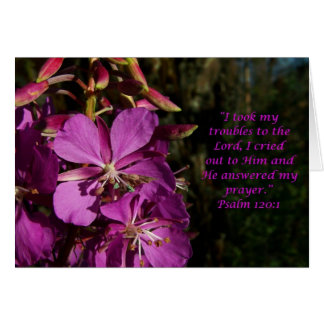 Psalm 120:1 Psalm of Encouragement Flower Card