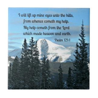 Psalm 121:1 I will lift up mine eyes... Tile