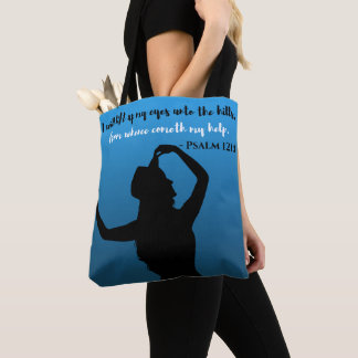Psalm 121 Blue & Black Tote