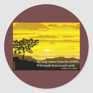 Psalm 121 My Help Classic Round Sticker