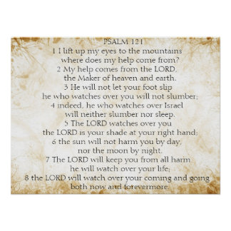 psalm 121 poster