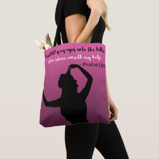 Psalm 121 Purple & Black Tote
