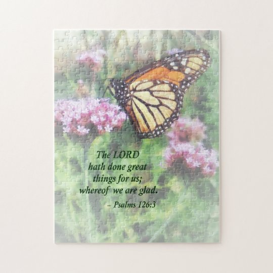 Psalm 126 3 The LORD hath done great things Jigsaw Puzzle