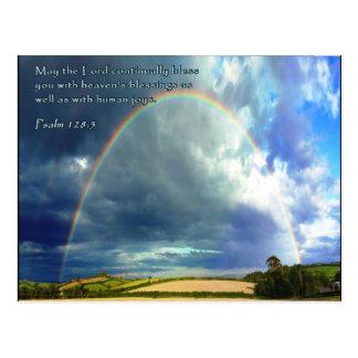 Psalm 128:5 Full Rainbow Postcard