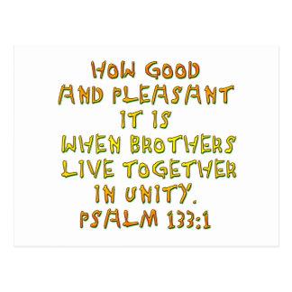 Psalm 133:1 postcard