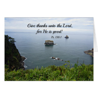Psalm 136:1 Give thanks unto the Lord... Card
