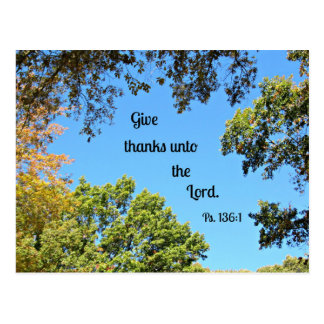 Psalm 136:1 Give thanks unto the Lord... Post Card