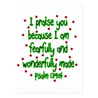 Psalm 139:14 postcard