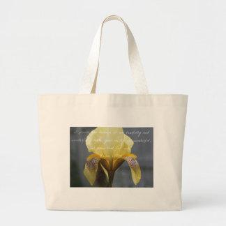 Psalm 139:14 Yellow Zebra Iris Large Tote Bag