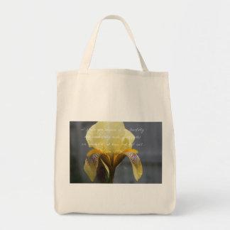 Psalm 139:14 Yellow Zebra Iris Tote Bag